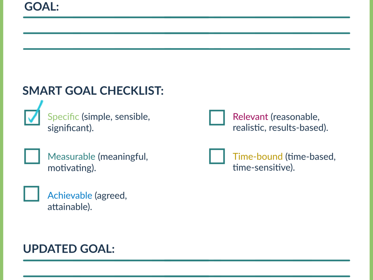 S.M.A.R.T. Goals - Specific
