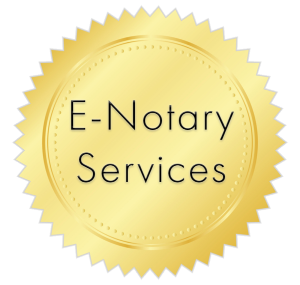 Gold seal used for product image for online notary services